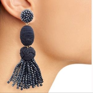 Baublebar Amina Drop Earrings Navy